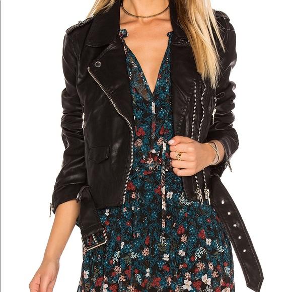 Blank NYC Jackets & Blazers - BLANK NYC Faux Leather Crop Moto Jacket XS